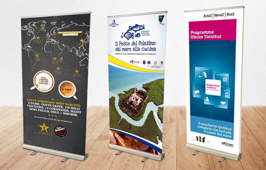 Sistemi Pubblicitari Indoor - Espositori Roll-up e roll up by LLsolutions.it